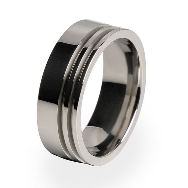 Titanium wedding ring. Simple and traditional. Perfect for any occasion. Lightweight and strong.