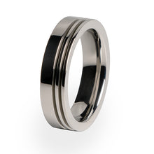 A simple yet elegant Titanium ring.  This women's ring is perfect as a wedding ring or personal everyday accessory.