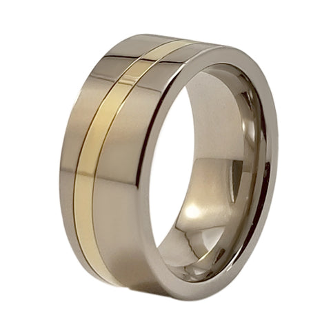 Sushi Gold Inlay Titanium ring