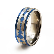 Soundwave Samurai Blue Titanium ring
