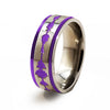 Soundwave Samurai purple Titanium Ring