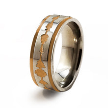 Soundwave Samurai Rose Gold Titanium ring
