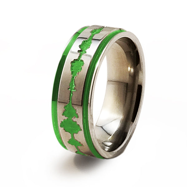 Soundwave Samurai Spring Green Titanium Ring
