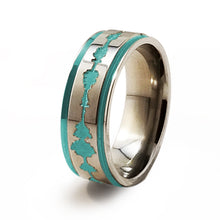 Soundwave Samurai Teal Titanium ring