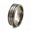 Soundwave Abyss Natural Titanium Ring