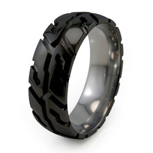 Black Titanium Tire Tread Ring
