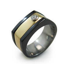 TUXEDO | Solitaire Diamond | 14k Yellow Gold
