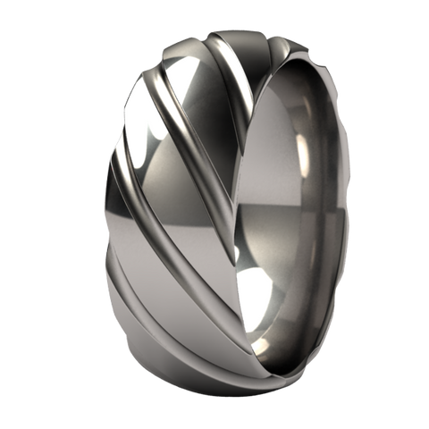Twister Titanium Ring