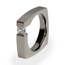 Ultima Titanium ring with princess cut diamond