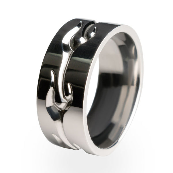 Aircraft grade titanium ring.  A perfect wedding ring. Free lifetime warranty