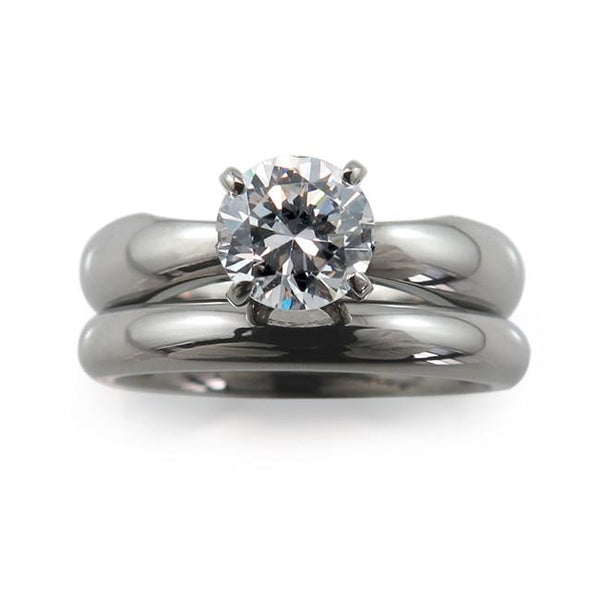 Helena 5mm (±0.50 ct) Solitaire Titanium Ring