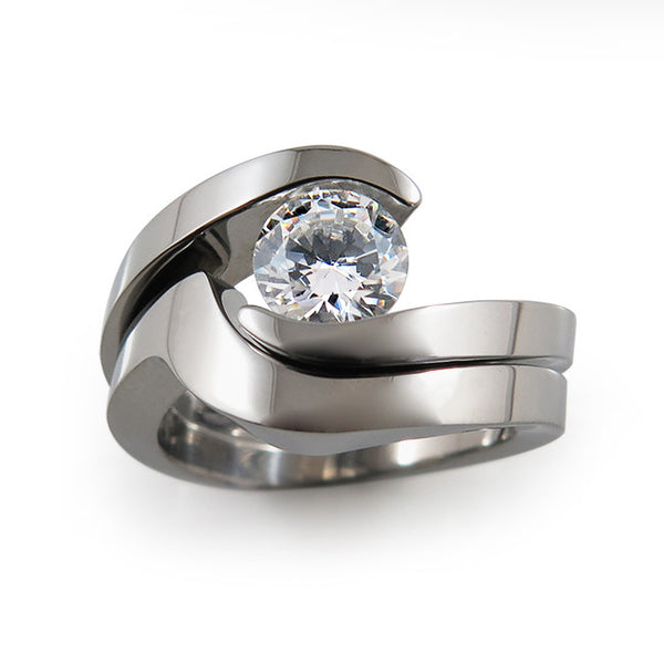 Stella Wedding Set - Image for Preview - See Description or Individual Rings for prices.-Titanium Rings