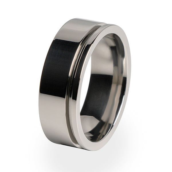 A perfect Titanium ring for men. A mens ring which is lightweight and strong.