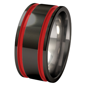 Abyss - Black & Enamelled-none-Titanium Rings
