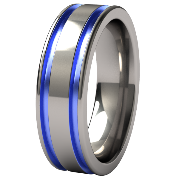 Abyss - Colored-none-Titanium Rings