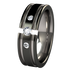 Abyss Tension Set with Side Stone Gems - Black Two Toned-none-Titanium Rings