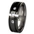 Abyss Tension Set with Side Stones - Black-none-Titanium Rings