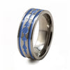 Soundwave Abyss Blue Titanium Ring