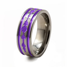 Soundwave purple titanium ring