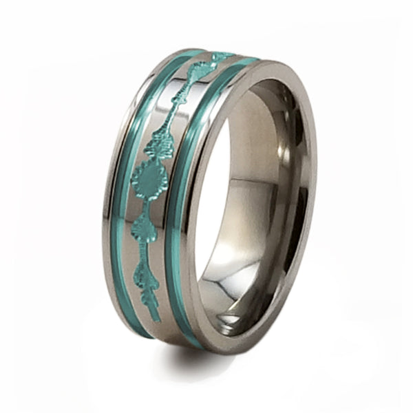 soundwave titanium ring