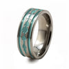 Soundwave Abyss Teal Titanium Ring