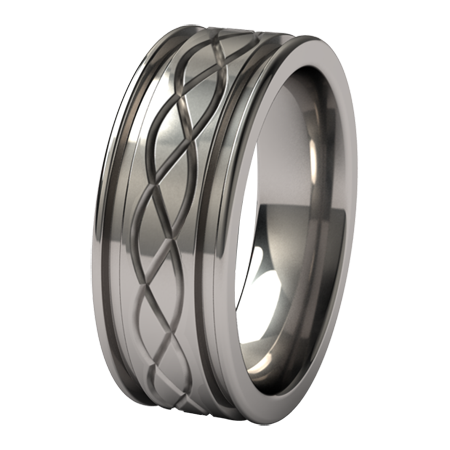 Abyss Hypnos Carvings-none-Titanium Rings