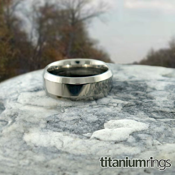 mens 100% titanium wedding band