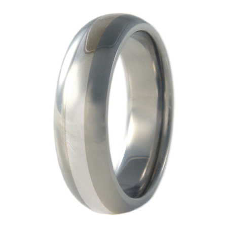 Eclipse Silver Inlay-none-Titanium Rings