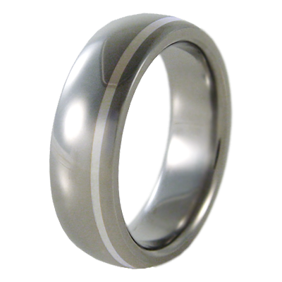 Zazu Silver Inlay-none-Titanium Rings