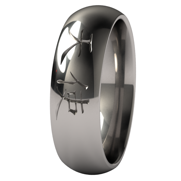 Angel-none-Titanium Rings