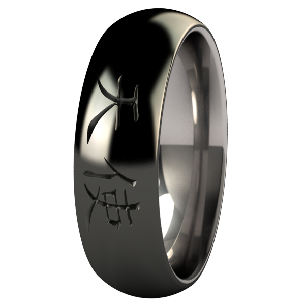 Angel Black-none-Titanium Rings