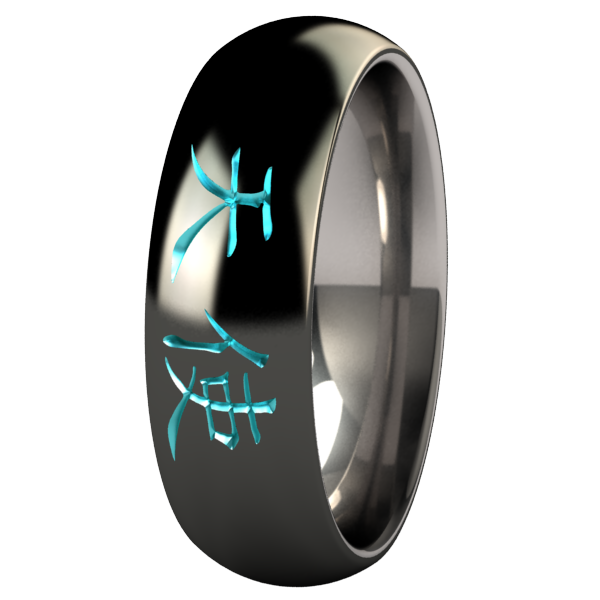 Angel - Black & Colored-none-Titanium Rings