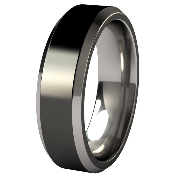 Apex - Black Two Toned-none-Titanium Rings