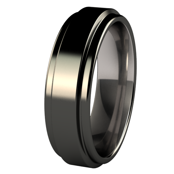 Aria - Black-none-Titanium Rings
