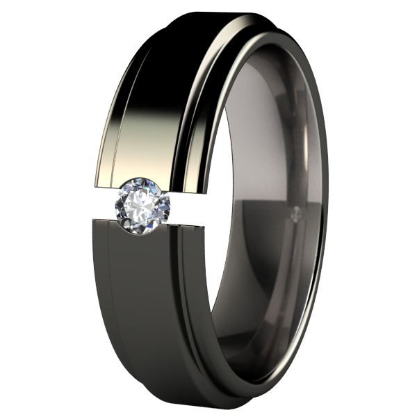 Aria Black Tension Setting-none-Titanium Rings