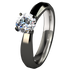 Artemis Solitaire Gem - Black-none-Titanium Rings