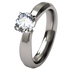 Artemis Diamond Solitaire-none-Titanium Rings