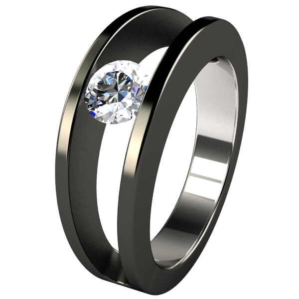 Atom Tension Set Solitaire Ring