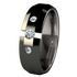 Ascent Tension Set with Side Stones - Black-none-Titanium Rings