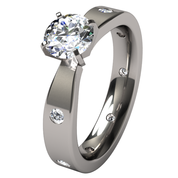 Asteria Canadian Diamond Solitaire-none-Titanium Rings