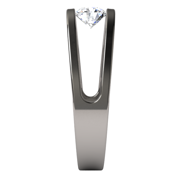 Atom Round Diamond Solitaire-none-Titanium Rings