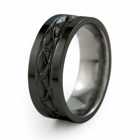 Hypnos | Black Titanium Ring