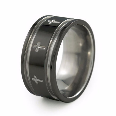 Crusader | Two-Toned Titanium Ring