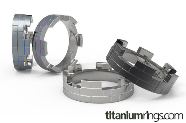 Bastion - Black-none-Titanium Rings