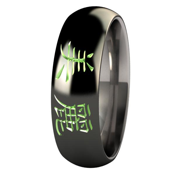 Beautiful Black and Colored-none-Titanium Rings