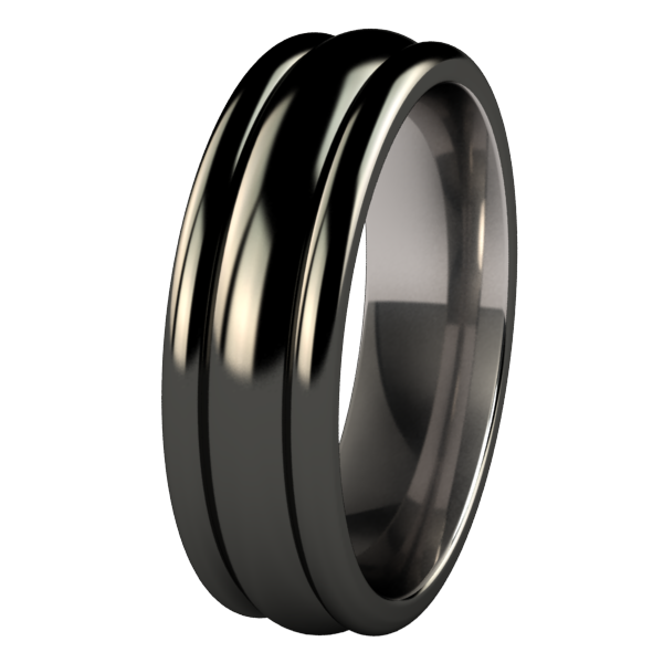 Beehive Black-none-Titanium Rings