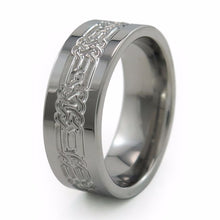 The Lancelot ring was designed as a Celtic knot pattern to symbolize love that is everlasting; having developed over an eternity of past lives.