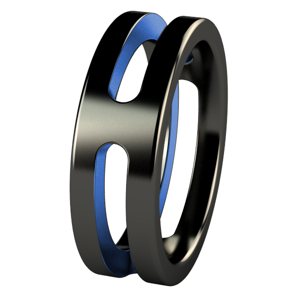 Breeze Flat - Black & Colored-none-Titanium Rings