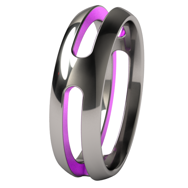 Breeze Dome - Colored-none-Titanium Rings