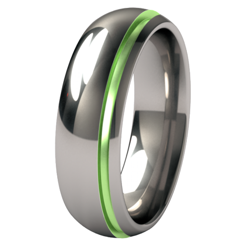 Bumblebee Single Side Groove - Colored-none-Titanium Rings